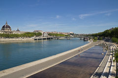 Sikt på floden av Lyon Arkivfoto