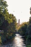 Sikt på floden på Vilnius Royaltyfria Bilder