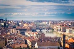 Sikt på Florence Arkivfoto