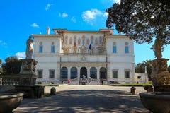 Sikt på Galleria Borghese i villan Borghese, Rome, Italien Arkivbild