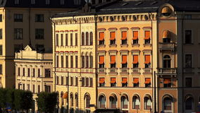 Sikt på Gamla Stan i Stockholm gammal stad sweden stock video