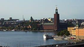 Sikt på Gamla Stan i Stockholm gammal stad sweden arkivfilmer