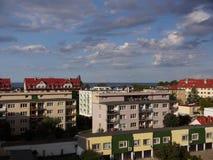 Sikt på golfen av Gdansk Arkivbilder