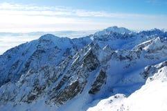Sikt på höga Tatras Arkivbilder