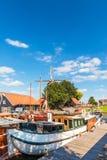 Sikt på hamnen av den holländska staden av Harderwijk Royaltyfria Foton