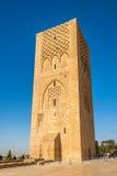 Sikt på Hassan Tower i Rabat, Marocko Arkivbilder