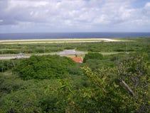 Sikt på havet från Curacao Arkivfoto