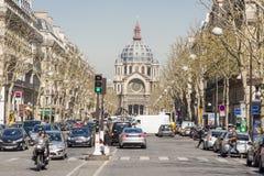 Sikt på helgonet - Augustin Church. Paris Frankrike. Royaltyfri Foto