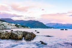 Sikt på Herceg Novi royaltyfria foton