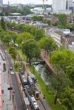 Sikt på horisont av Rotterdam, Nederländerna arkivfoton