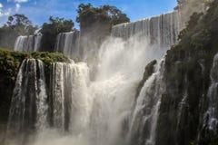 Sikt på Iguazu Falls, argentinsk sida, Argentina Arkivbild