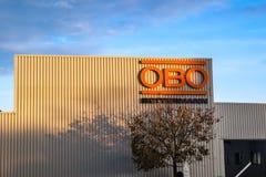 Sikt på industribyggnad för OBO Betterman fotografering för bildbyråer