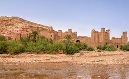 Sikt på Kasbahen Ait Benhaddou - Marocko Royaltyfria Bilder