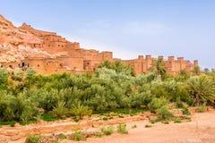 Sikt på Kasbahen Ait Benhaddou - Marocko Royaltyfria Foton