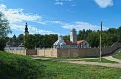 Sikt på kloster komplexa Privina Glava, Sid, Serbien Arkivfoton