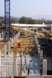 Sikt på konstruktion Arkivbild