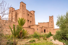 Sikt på Ksaren av Kasbah Ait Benhaddou - Marocko Royaltyfri Foto
