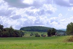 Sikt på kullar Arkivbild