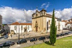Sikt på kyrkan av Sao Joao de Almedina i Coimbra - Portugal Royaltyfri Fotografi