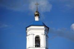 Sikt på kyrklig klocka Fotografering för Bildbyråer