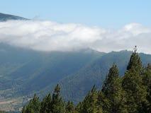 Sikt på La Cumbrecita, kanariefågelöar, Spanien Arkivfoton