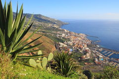 Sikt på La Palma Canarias, Spanien, Europa Royaltyfria Foton