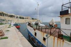Sikt på La Valletta, huvudstaden av Malta Arkivbild
