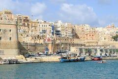 Sikt på La Valletta, huvudstaden av Malta Royaltyfri Bild