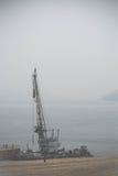 Sikt på Lake Baikal under dimman Royaltyfria Bilder