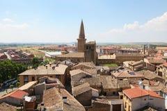 Sikt på mitten av Ujue, Navarre, Spanien Fotografering för Bildbyråer