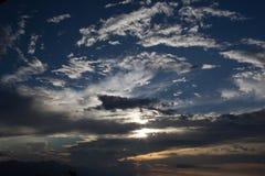Sikt på molnhimmel Arkivfoton