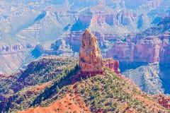 Sikt på Mt Hayden i norr Rim Of The Grand Canyon fotografering för bildbyråer