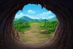 Sikt på munnen av grottan royaltyfri illustrationer