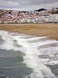 Sikt på Nazare, Portugal Royaltyfri Foto