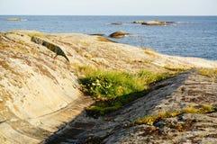 Sikt på Nordsjön, Norge Royaltyfria Bilder