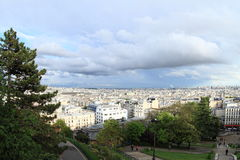 Sikt på Paris från Sacre Coeur Arkivfoton