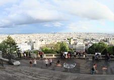 Sikt på Paris från Sacre Coeur Arkivbild