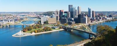 Sikt på Pittsburgh, PA arkivbilder