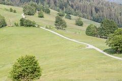 Sikt på polska berg - Beskidy royaltyfri fotografi