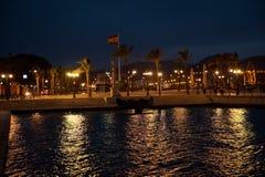 Sikt på porten och hamnen i Cartagena, Spanien Arkivfoton