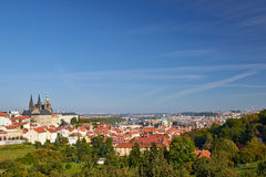 Sikt på Prague Arkivbild