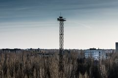 Sikt på Pripyat Fotografering för Bildbyråer