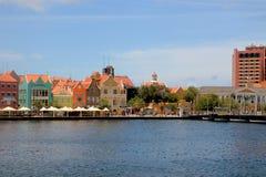 Sikt på Punda, Wllemstad, Curacao Royaltyfria Foton
