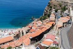 Sikt på Scilla, Calabria, Italien Royaltyfri Foto
