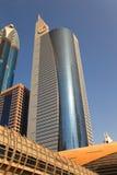 Sikt på Sheikh Zayed Road skyskrapor Royaltyfri Fotografi