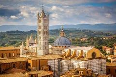 Sikt på Siena Cathedral Arkivfoto