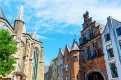 Sikt på Sinten Stevenskerkhof, Nijmegen, Nederländerna Fotografering för Bildbyråer