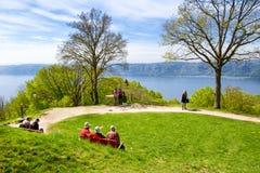 Sikt på sjöconstancen Bodensee Arkivbilder