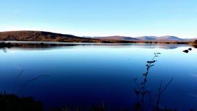 Sikt på sjön Arkivfoton