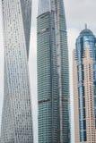 Sikt på skyskrapor i Dubai, UAE Royaltyfri Bild